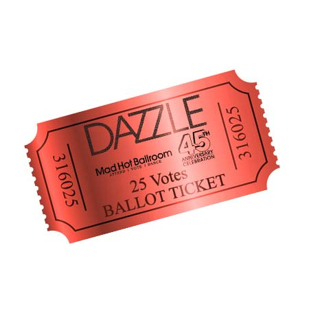 Dazzle 2018- 25 Ballot Votes