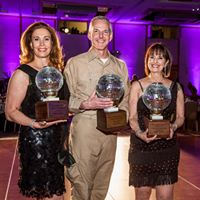 Photo of Dazzle winners Denise Wood-Darder, Jeff Perlman and Barbara Coe